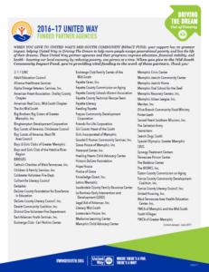 United Way Community Impact Fund Agencies Listing