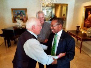 Jack Belz and Ron Belz welcome Dr. Robinson to Belz Enterprises