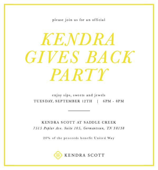 Kendra Scott sale for United Way